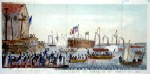 Launch of the steam Frigate Fulton the First, at New York 29th Oct. 1814