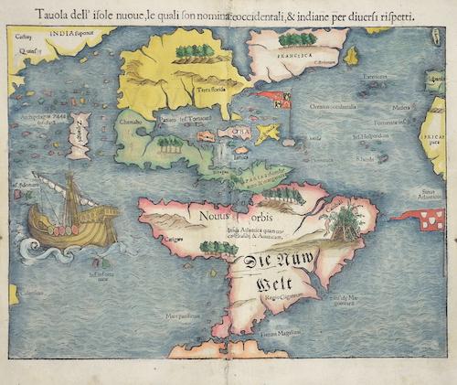 Münster Sebastian Die newen Inseln so hinder Hispania gegen Orient bey dem Landt Indie gelegen