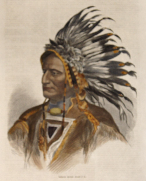 Indiánský nácelnik. (Kreslil P.K.)