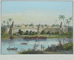 View of the palace of Agra, from the river..