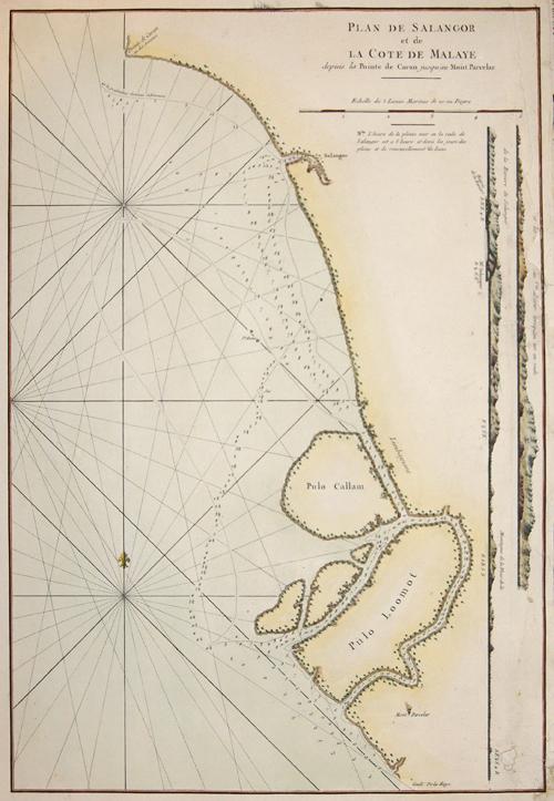 Plan de Salangor et de La Cote de Malaye depuis la Pointe de Caran jusqu'au Mont Parcelar