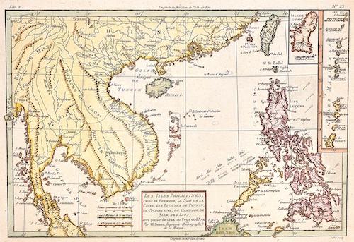 Les Isles Philippines, celle de Formose, le Sud de la Chine, les Royaumes de Tunkin, de Cochin Chine, de Camboge, de Siam, des Laos…