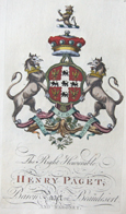 The right honourable Henry Paget Baron Paget of Beaudestert an Baronet