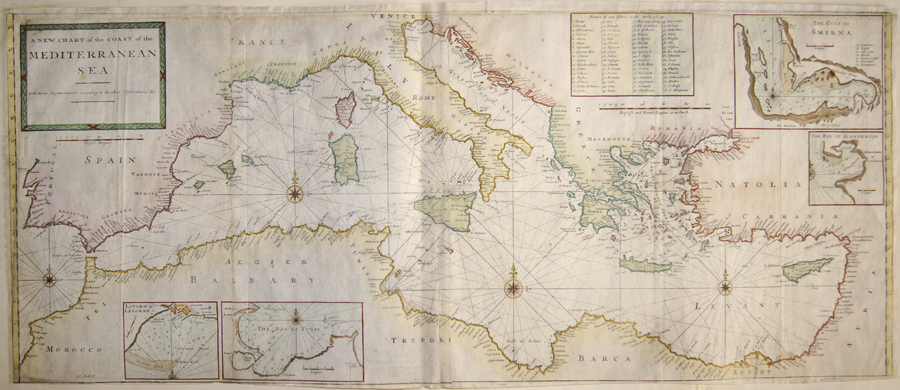 A new Chart of the Coast of the Mediterranean Sea.