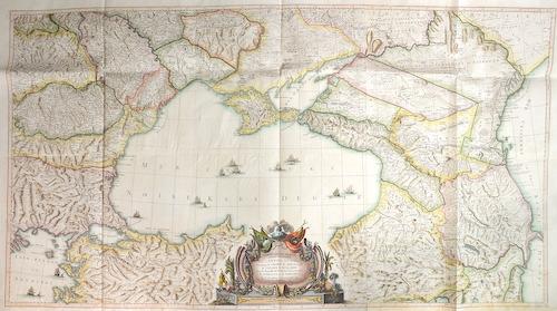 Carte de la Partie septentrionale de l Empire Otoman Contenant la Crimee, la Moldavie, la Valakie, la Bulgarie, avec la Nouvelle Russie,…