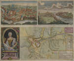 A Plan of the city of Prague, with the French and Austrian Camps/ City of Egra/ Southern view of Pargue/ Maria Theresa, Q. of Hungary