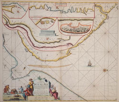 Paskaarte van de Mont van de Witte Zeen .Beginnende van Tiepena tot Pelitza