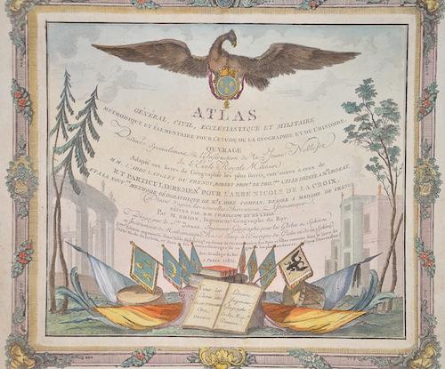 Desnos Louis Charles Atlas general, civil, ecclesiastique et militaire methodique et elementaire pour l´etude de la geographie et l´Histoire…………