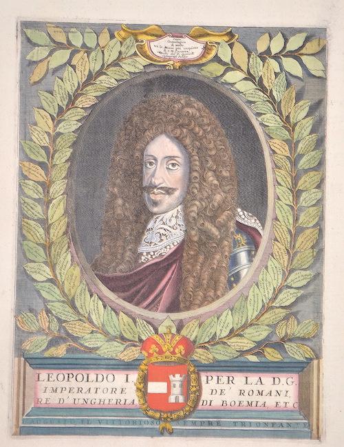 Coronelli Vicenzo Maria Leopoldo I per la D.G. Impertaore de´Romani, re d´Ungheria, di Boemia, ect.