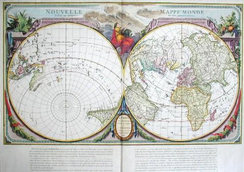 Homann Erben R.J. & Julien Nouvelle Mappe Monde