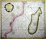 A new & correct chart of the inner passage between Madagascar Isle and the Coast of Africa