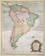 A Map of South America With all the European Settlements & whatever else is remarkable
