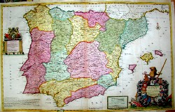 A new and exact map of Spain & Portugal