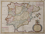 A New Map of Present Spain & Portugal.