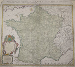Carte generale des Postes de France avec laes Postes de Communication../ Galia Postarum..