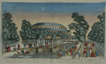 A view of the canal chinese building, rotunde in Ranelagh Gardens with Masquarade….