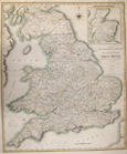 A Map of England, Wales + Scotland, describing all the Direct and principal Cross Roads in Great Britain, with the Distances measured between the..