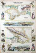 Caucasus & Crimea with the northern portins of the Black & Caspian seas