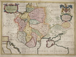 A New Map of Present Poland, Hungary, Walachia, Moldavia, Little Tartary