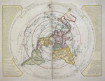 Planisphere Physique ou l ´on voit de Pole Septentrional