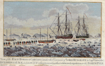 View of the Race Horse & Carcass (under the Command of Lord Mulgrave & Captn. Lutwyche) Inclosed in the Ice, ..